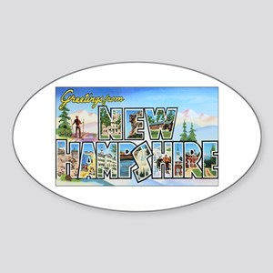 New Hampshire Greetings Oval Sticker