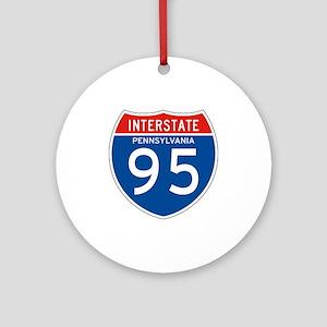 Interstate 95 - PA Ornament (Round)