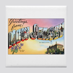 New Jersey Greetings Tile Coaster