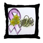 Breast Cancer Awareness - HOPE Throw Pillow
