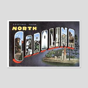 North Carolina Greetings Mini Poster Print
