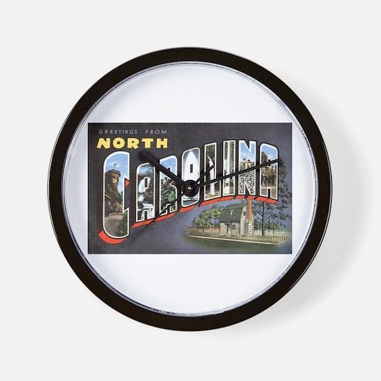 North Carolina Greetings Wall Clock