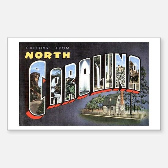 North Carolina Greetings Rectangle Decal