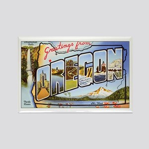 Oregon Greetings Rectangle Magnet