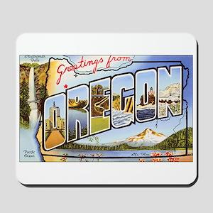 Oregon Greetings Mousepad