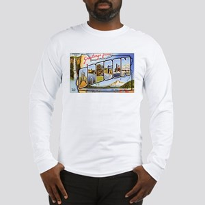 Oregon Greetings (Front) Long Sleeve T-Shirt