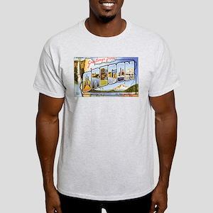 Oregon Greetings (Front) Ash Grey T-Shirt