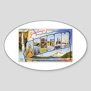 Oregon Greetings Oval Sticker