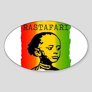RASTAFARI Oval Sticker