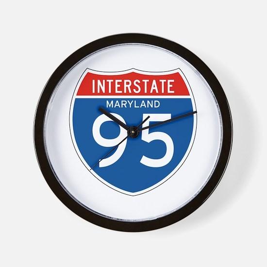 Interstate 95 - MD Wall Clock
