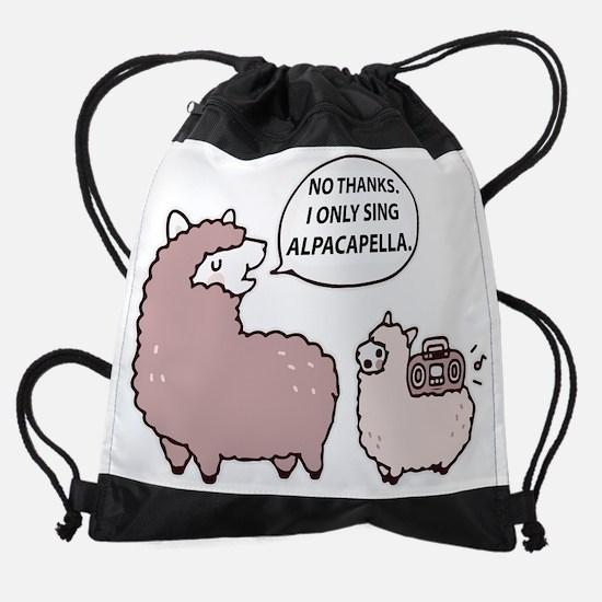 Cute Alpacapella Drawstring Bag