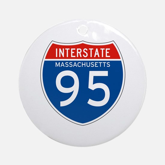 Interstate 95 - MA Ornament (Round)