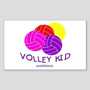 Volley Kid Rectangle Sticker