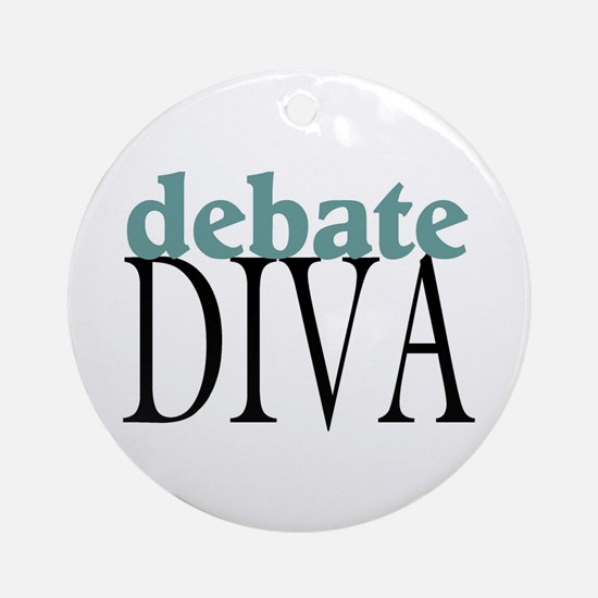 Debate Diva Ornament (Round)