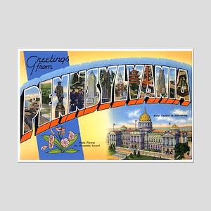 Pennsylvania Greetings Mini Poster Print