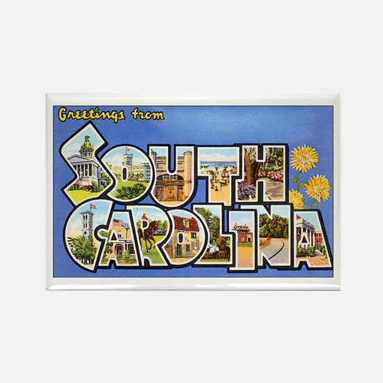 South Carolina Greetings Rectangle Magnet (10 pack