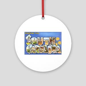 South Carolina Greetings Ornament (Round)