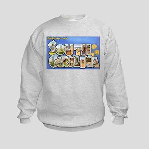 South Carolina Greetings (Front) Kids Sweatshirt