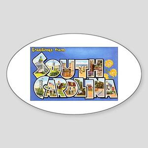 South Carolina Greetings Oval Sticker