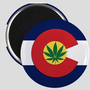 Colorado State Pot Flag Magnet