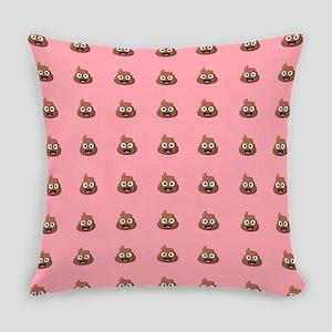 Poop Emoji Pink Everyday Pillow