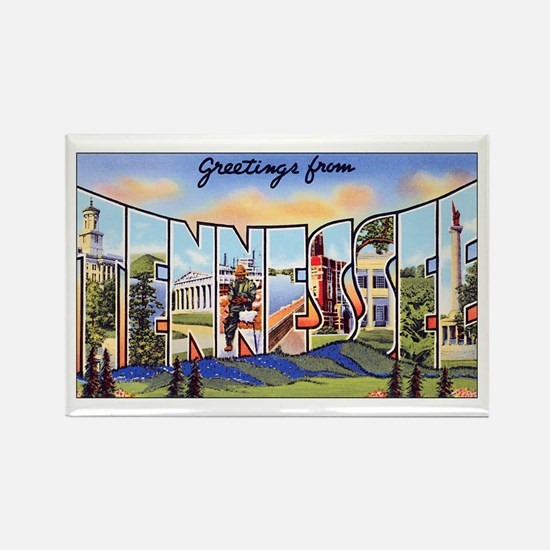 Tennessee Greetings Rectangle Magnet