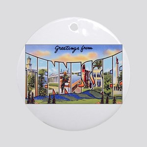 Tennessee Greetings Ornament (Round)