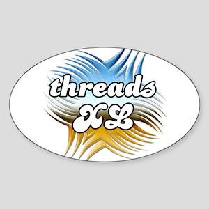 Threads XL Oval Sticker