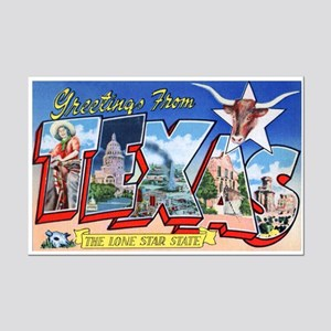 Texas Greetings Mini Poster Print