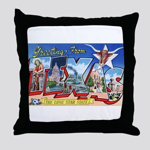 Texas Greetings Throw Pillow