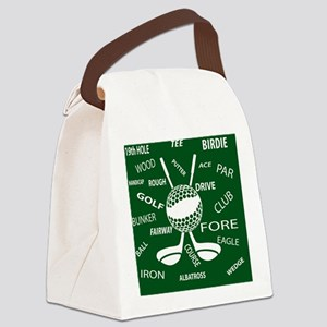 Golf Golfer Ball and club Canvas Lunch Bag