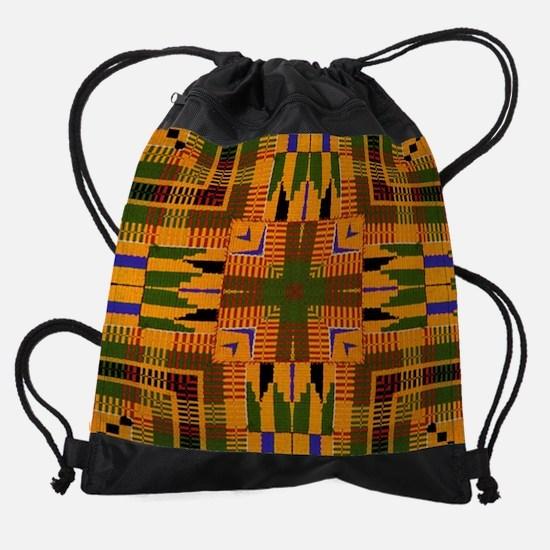 Kente Pattern 3 Drawstring Bag