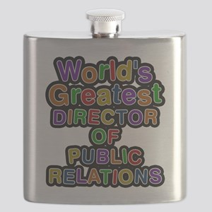 Worlds Greatest DIRECTOR OF PUBLIC RELATIONS Flask
