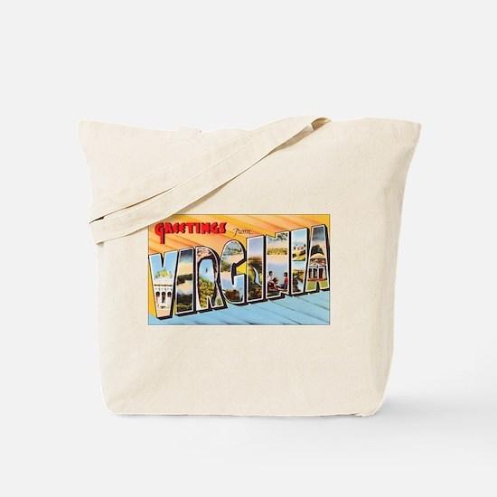Virginia Greetings Tote Bag