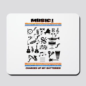 Charged Up With MUSIC! Mousepad