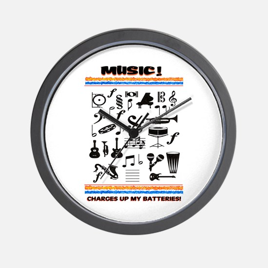 Charged Up With MUSIC! Wall Clock