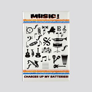 Charged Up With MUSIC! Rectangle Magnet