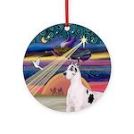 Xmas Star & Great Dane (Harl2) Ornament (Round