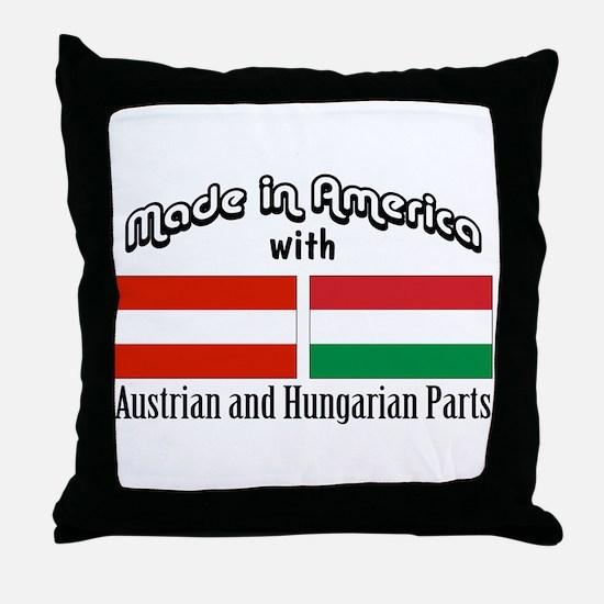 Austrian & Hungarian Parts Throw Pillow