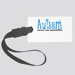 Autism Expect the Unexpected Large Luggage Tag