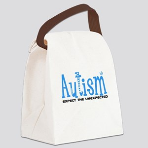 Autism Expect the Unexpected Canvas Lunch Bag