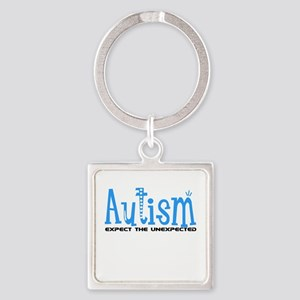 Autism Expect the Unexpected Square Keychain