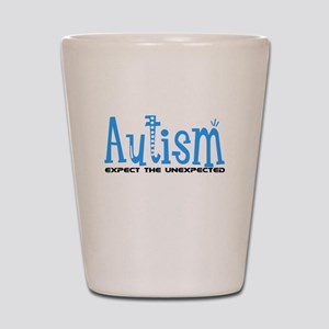 Autism Expect the Unexpected Shot Glass