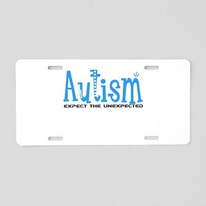 Autism Expect the Unexpected Aluminum License Plat