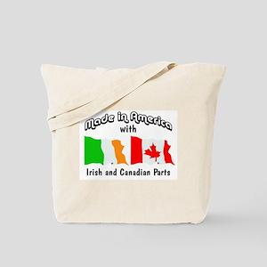 Irish & Canadian Parts Tote Bag