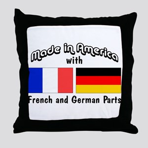 French & German Parts Throw Pillow