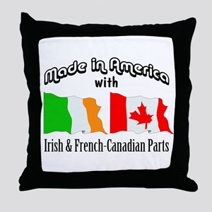 Irish & French-Canadian Parts Throw Pillow