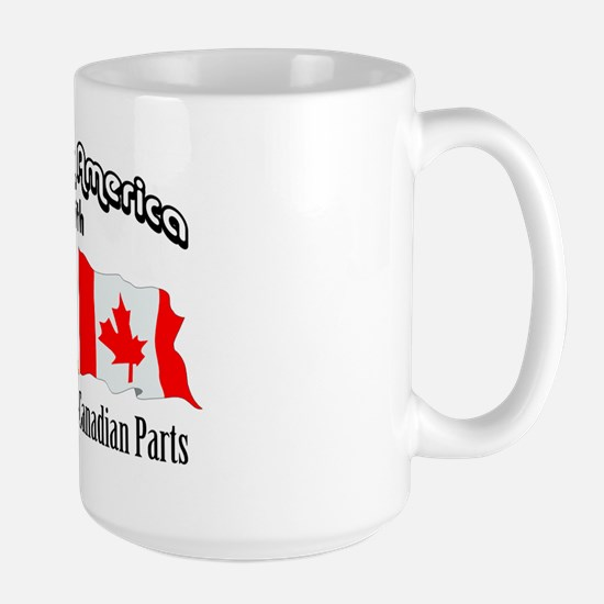 Irish & French-Canadian Parts Large Mug