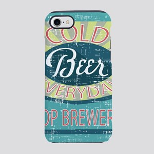 retro look beer everyday adver iPhone 7 Tough Case