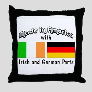Irish & German Parts Throw Pillow
